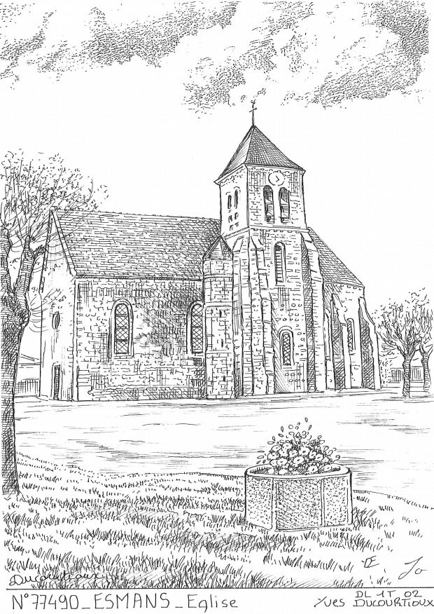 Carte Postale N° 77490 - ESMANS - église