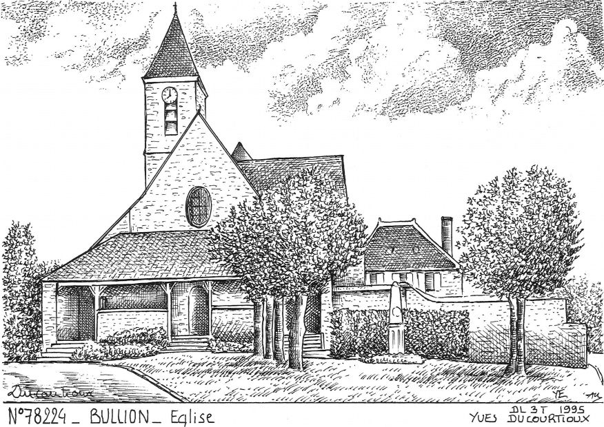 Cartes postales BULLION - église