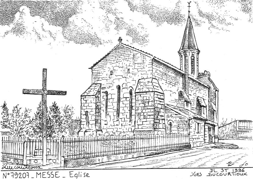 Carte Postale N° 79207 - MESSE - église