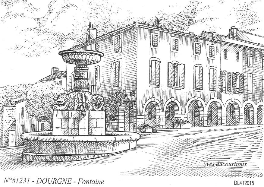 Cartes postales DOURGNE - fontaine