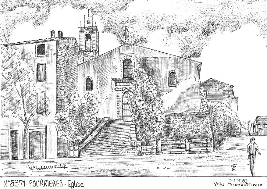 Carte Postale N° 83071 - POURRIERES - église