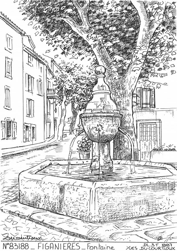 Carte Postale N° 83188 - FIGANIERES - fontaine