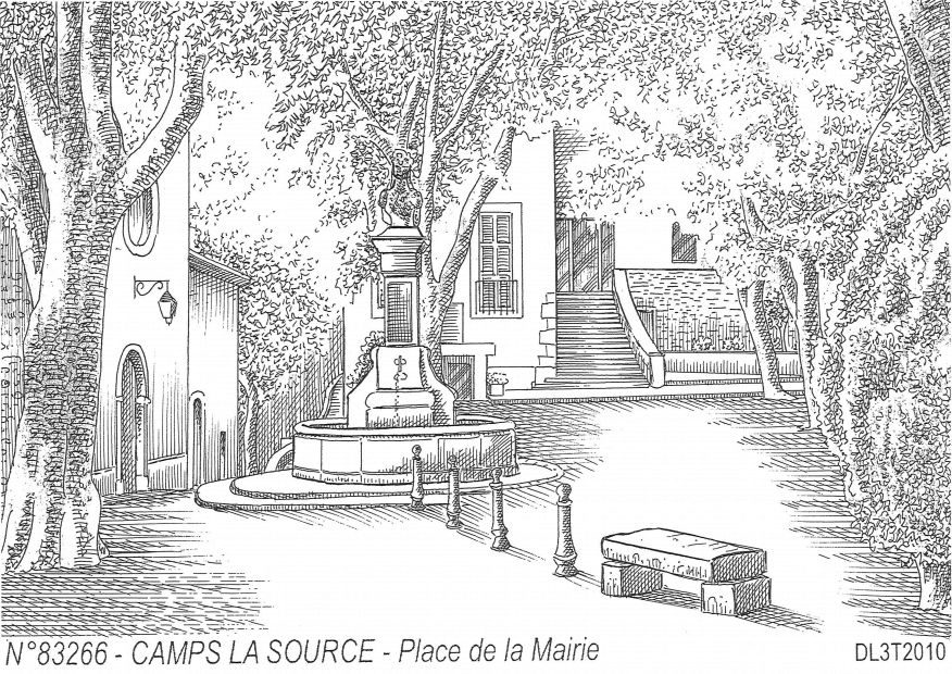 Carte Postale N° 83266 - CAMPS LA SOURCE - place de la mairie