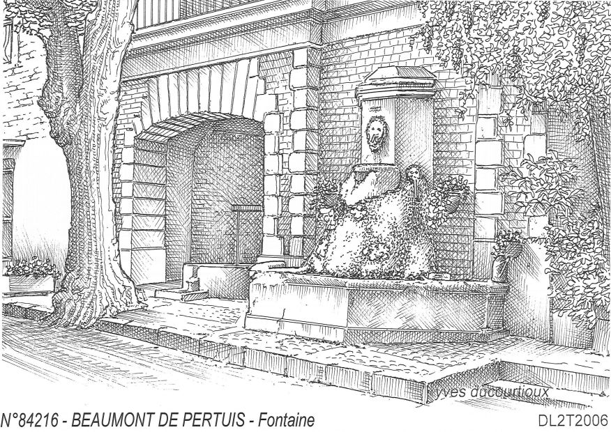 Cartes postales BEAUMONT DE PERTUIS - fontaine