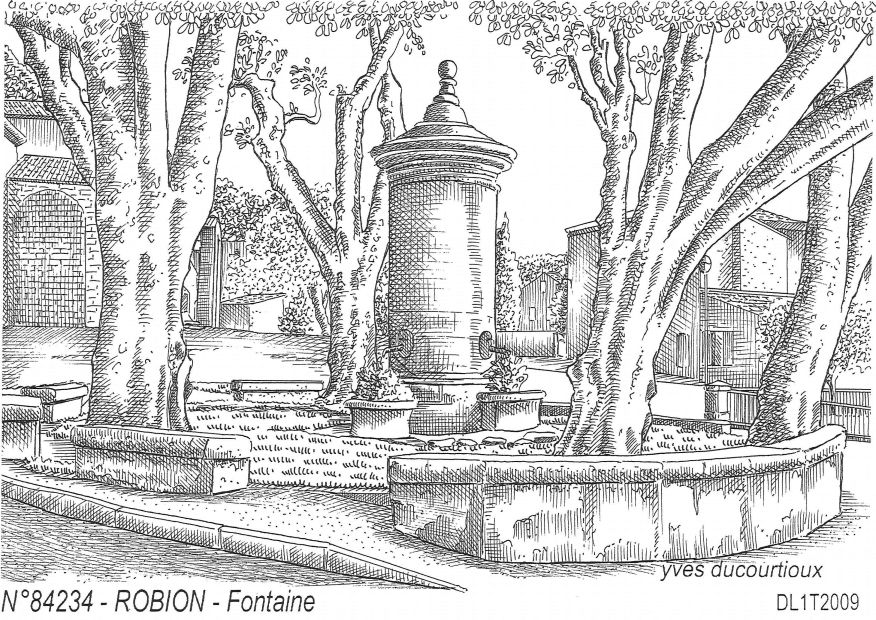 N° 84234 - ROBION - fontaine