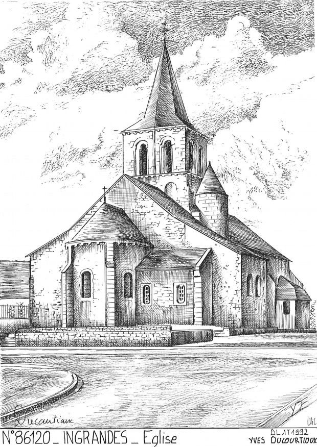 Carte Postale N° 86120 - INGRANDES - église