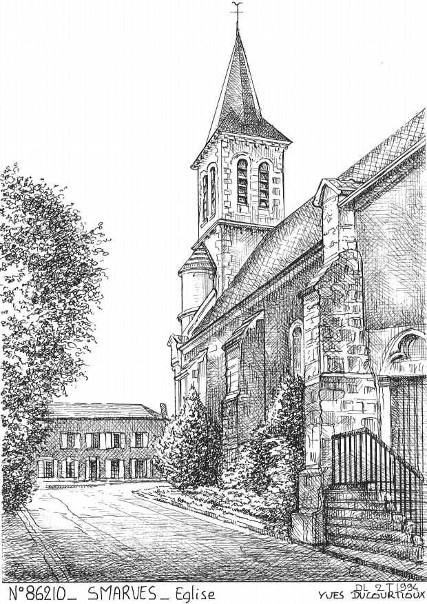 N° 86210 - SMARVES - église
