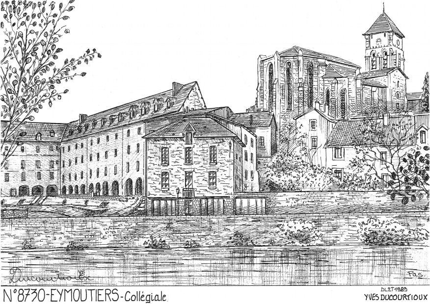 Carte Postale N° 87030 - EYMOUTIERS - collégiale