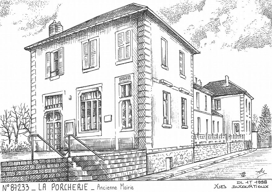 Carte Postale N° 87233 - LA PORCHERIE - ancienne mairie
