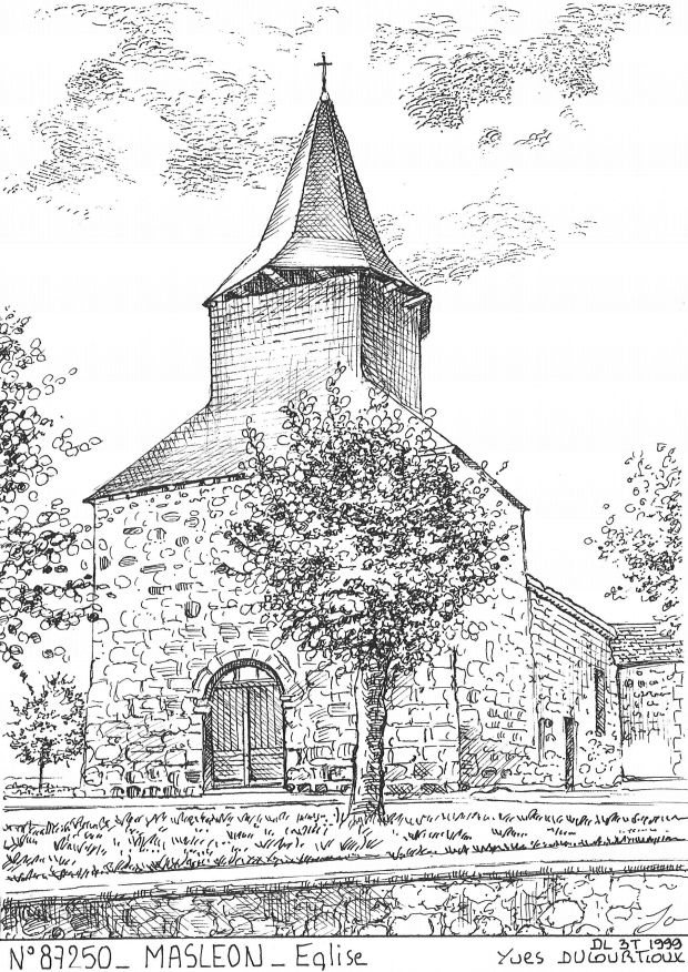 Carte Postale N° 87250 - MASLEON - église