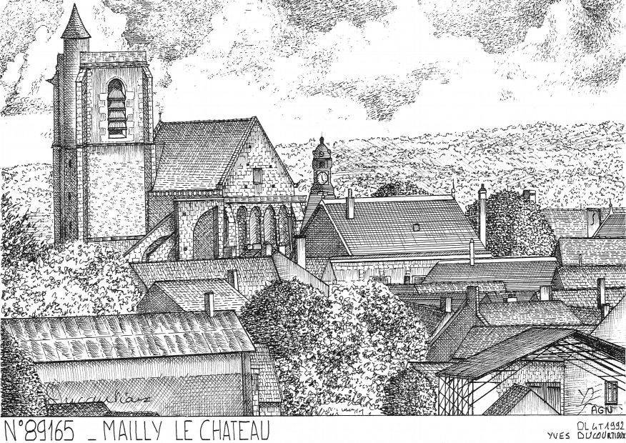 Carte Postale N° 89165 - MAILLY LE CHATEAU - vue