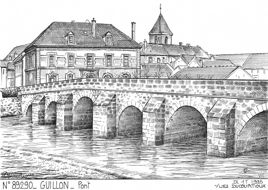 Carte Postale N° 89290 - GUILLON - pont