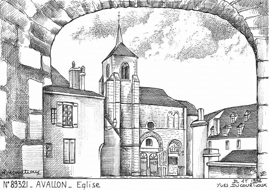 Cartes postales AVALLON - église