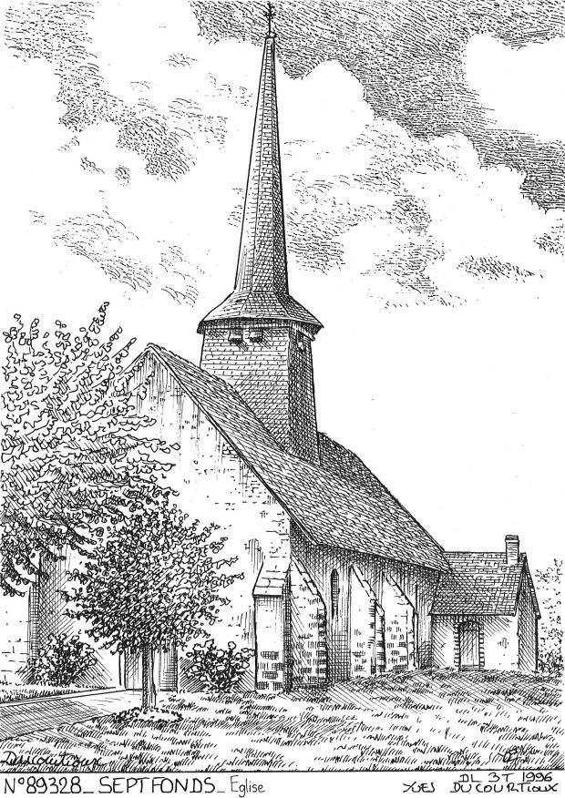 Carte Postale N° 89328 - SEPTFONDS - église